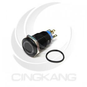 19mm銅鍍鉻(黑) 平面環形燈-白色 DC12V 有段天使眼開關