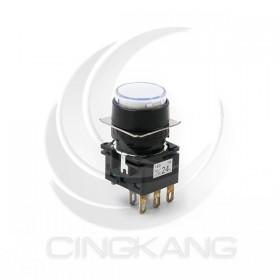 idec 16mm 圓形照光按鈕LED DC24V 白色