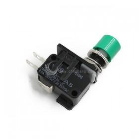15A 微動開關含小頭塑膠按鈕-綠色