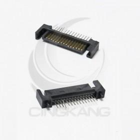SATA電腦/硬盤接口 15P公座180度直插帶定位柱