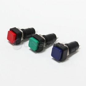 方型按式開關(有段) 藍色 總長30mm