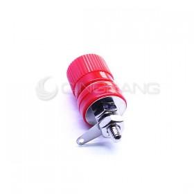 博士端子(鍍鎳) 紅色 總長35mm