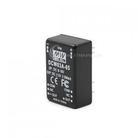 明緯 雙組直流電源供應器 DCW03A-05 I/P:DC9~18V O:5V
