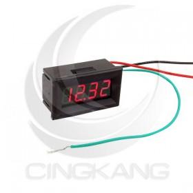 0.36四位元LED數位直流電壓表頭-紅光 40.5*24*17.5mm