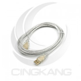 US-51 USB 2.0 A-A鍍金透明傳輸線1.8M
