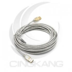 USB 2.0 A-A鍍金透明傳輸線5M(UB-224)