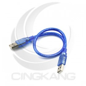 USB2.0 A公公  透明藍 30CM (US-112)