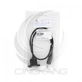 USB2.0 B公-B母 帶耳 50CM