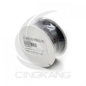 黑色 鍍銀線/單芯線 30AWG 105℃ 1000ft