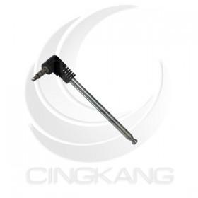 3.5立體耳機頭底座伸縮天線 4節全長240直徑4.4第一節70mm