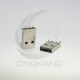 USB A型公頭 180度腳位 (10入) 黑底