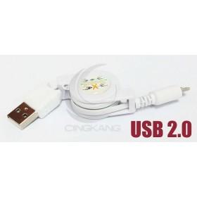 USB2.0 A公/Micro B公易拉線 白色(UB-364)