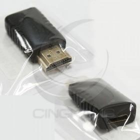 鍍金HDMI 公轉 mini HDMI母轉接頭 A公對C母1.4版