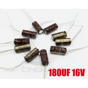 黑金剛電容 180UF 16V LXV 6*15 (10顆入)