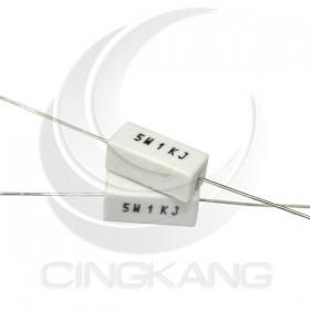 陶瓷水泥電阻 臥式 5W 1K (5PCS/包)