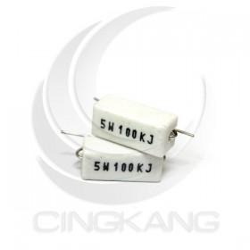 陶瓷水泥電阻 臥式 5W 100K (10PCS/入)