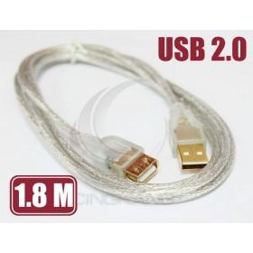 USB2.0 A公-A母 透明延長線1.8M(UB-192)
