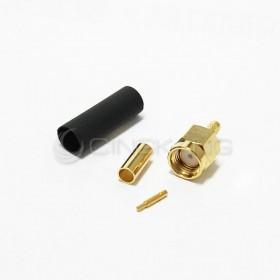 SMA公頭鍍金 夾式-RG174(內牙公針)