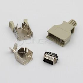 14P公 塑膠殼 SCSI 連接器