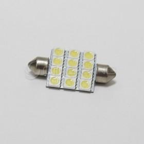 5050白光 雙尖頭 39mm LED 12晶 DC12V
