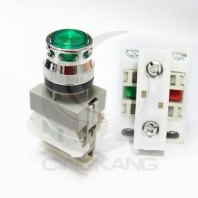 AP 平頭照光按鈕-綠(#22) AC220V 1A1B