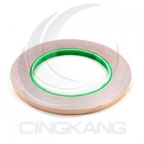 雙導電銅箔膠帶 6mm*30M 耐高溫120度 (符合RoHS)