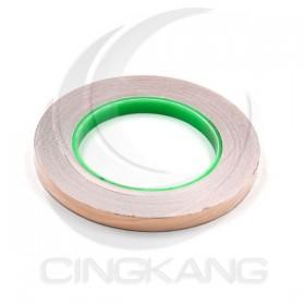 雙導電銅箔膠帶 10mm*30M 耐高溫120度 (符合RoHS)