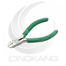 Pro'sKit 寶工 1PK-037S 防滑綠柄鈦金5吋斜口鉗