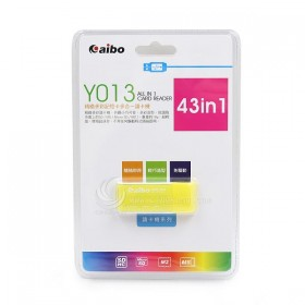 AIBO Y013 精緻記憶卡多合一讀卡機-黃色