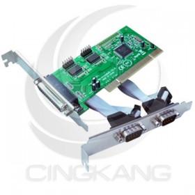 伽利略 PCI 2 Port RS232+1 Port Parallel 擴充卡(2埠) PTRP02A