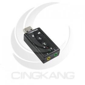 7.1聲道 USB音效卡 (USG-43)