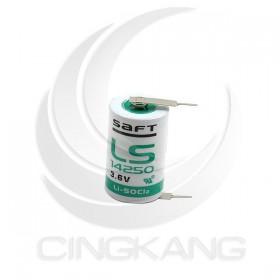 法國 SAFT LS 14250 鋰電池 3.6V PLC電池 CNC電池 (一次性) 帶焊腳