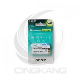 SONY低自放充電電池 3號(2入) 2000mAh