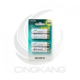 SONY低自放充電電池 3號(4入) 2000mAh