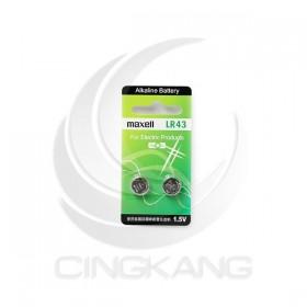 MAXELL水銀電池 LR43 同AG12 (2卡/入)