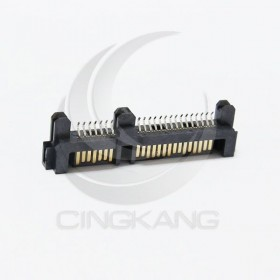 SATA接口/硬盤插座 7+15(22P)貼片公座夾板