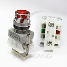 AP 平頭照光按鈕-紅(#22) 24V 1A1B