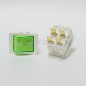 4P2段 白殼綠燈翹板開關 ON/OFF 110/220V