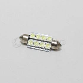 5050白光 雙尖頭 39mm LED 8晶 DC12V