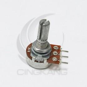 單聯電位器 B1K 柄長15MM(三腳)