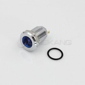 12V 12mm防水不鏽鋼金屬平面-藍色(焊線式)