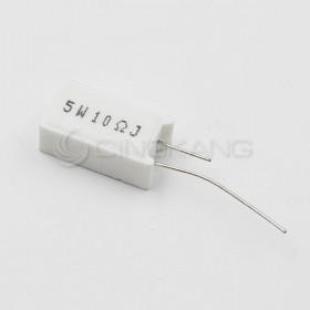 陶瓷水泥電阻 立式 5W 10Ω (5入)