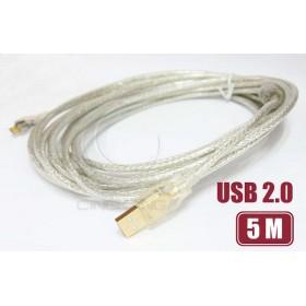 USB2.0 A公/Micro B公鍍金透明傳輸線 5M(UB-274)