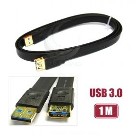 USB3.0 扁線 A公/A母延長線鍍金 1M(UB-318)