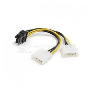 雙大4P轉PCI-E 8P 顯示卡電源線 20CM (PR-46)