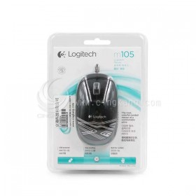 Logitech M105 光學滑鼠 黑色 有線USB 隨插即用