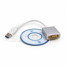 USB 轉 VGA母 轉換器 白色
