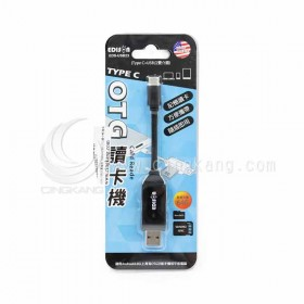 EDS-USB23 愛迪生 Type-c+USB OTG讀卡機 隨插即用