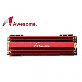 Awesome M.2 SSD NGFF 2280散熱片(紅) AWD-M2HS2280R