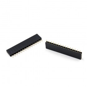間距2.54mm 單排母座1*15P 針長3mm(2入)